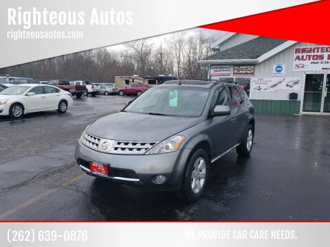 2007 Nissan Murano for sale at Righteous Autos in Racine WI