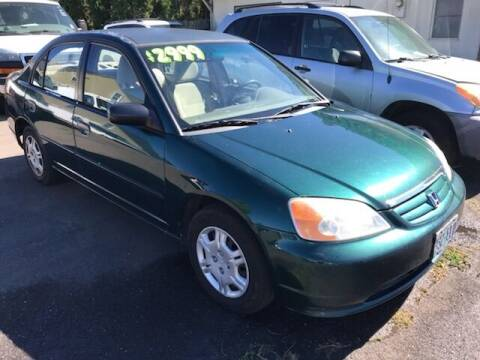2002 Honda Civic for sale at Chuck Wise Motors in Portland OR