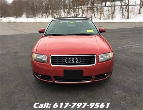 2004 Audi A4 for sale at Wheeler Dealer Inc. in Acton MA