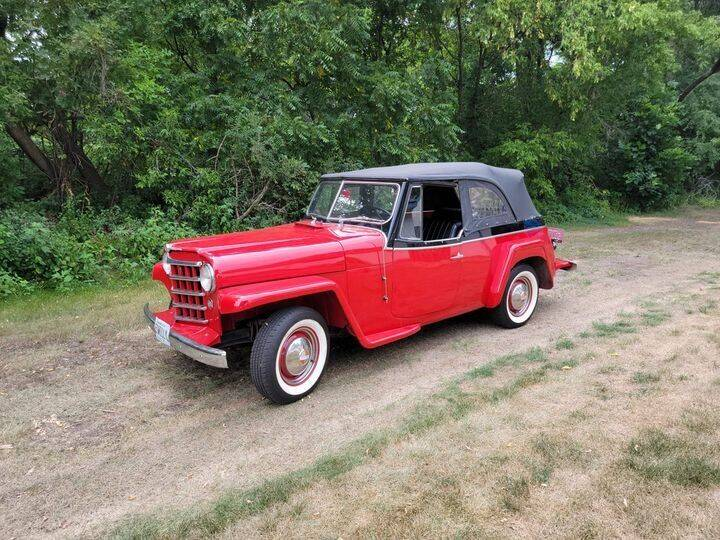 1950 Jeep Willy's Overland Jeepster for sale at Midwest Classic Car in Belle Plaine MN