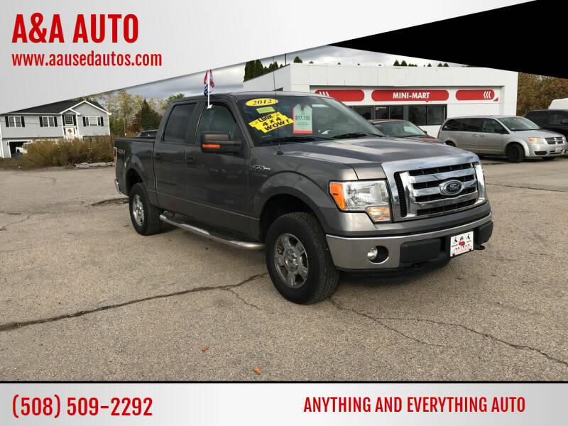 2012 Ford F-150 for sale at A&A AUTO in Fairhaven MA