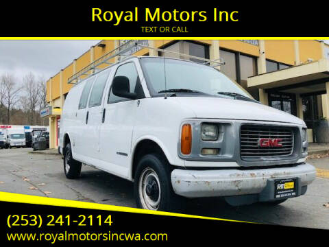 2002 GMC Savana Cargo for sale at Royal Motors Inc in Kent WA