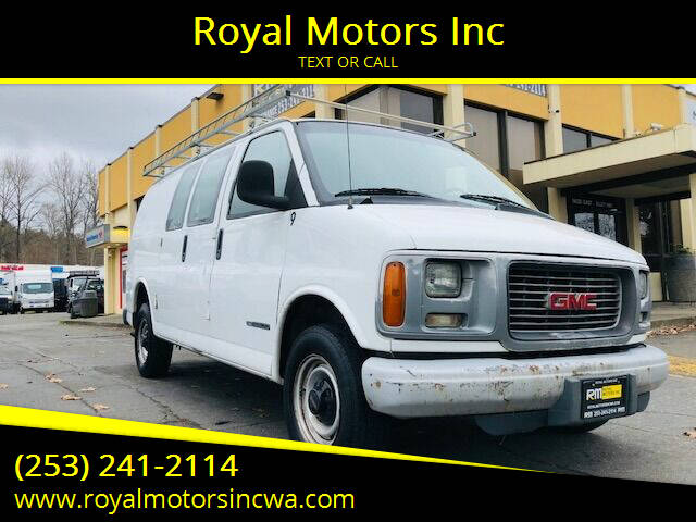 2002 GMC Savana Cargo for sale at Royal Motors Inc in Kent WA