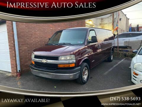 2003 Chevrolet Express Cargo for sale at Impressive Auto Sales in Philadelphia PA