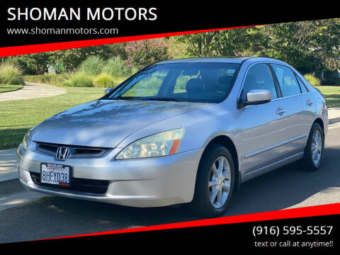 2005 Honda Accord for sale at SHOMAN AUTO GROUP in Davis CA