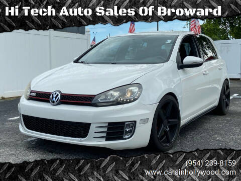 2013 Volkswagen GTI for sale at Hi Tech Auto Sales Of Broward in Hollywood FL