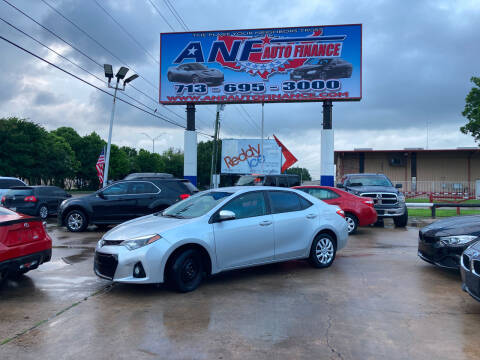 2016 Toyota Corolla for sale at ANF AUTO FINANCE in Houston TX
