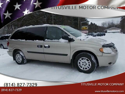 2005 Dodge Grand Caravan for sale at Titusville Motor Company in Titusville PA