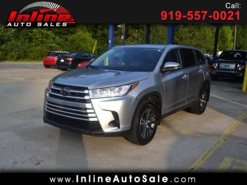 2019 Toyota Highlander for sale at Inline Auto Sales in Fuquay Varina NC