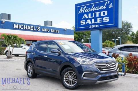 2018 Hyundai Santa Fe Sport for sale at Michael's Auto Sales Corp in Hollywood FL