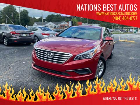 2017 Hyundai Sonata for sale at Nations Best Autos in Decatur GA