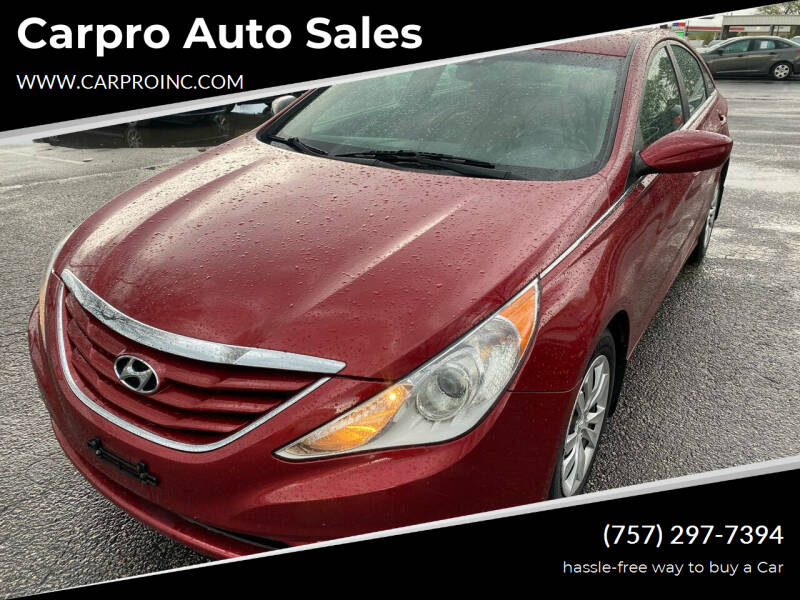 2013 Hyundai Sonata for sale at Carpro Auto Sales in Chesapeake VA