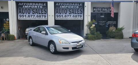 2003 Honda Accord for sale at Affordable Imports Auto Sales in Murrieta CA