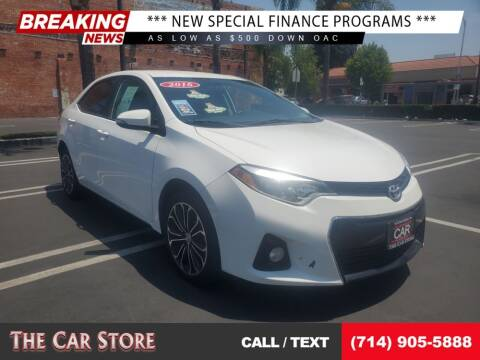 2016 Toyota Corolla for sale at The Car Store in Santa Ana CA