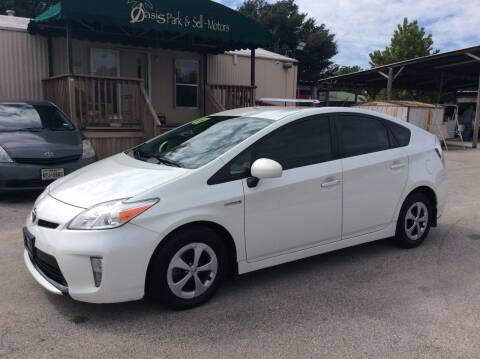 2014 Toyota Prius for sale at OASIS PARK & SELL in Spring TX