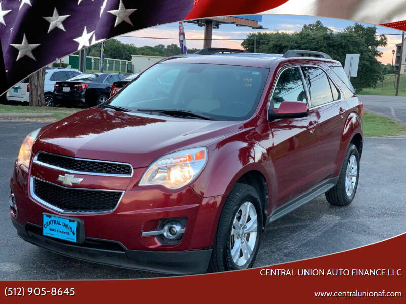 2011 Chevrolet Equinox for sale at Central Union Auto Finance LLC in Austin TX