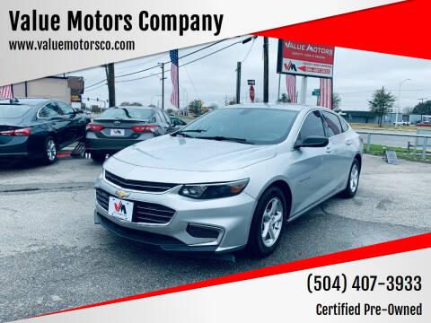 2018 Chevrolet Malibu for sale at Value Motors Company in Marrero LA
