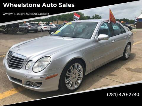 2008 Mercedes-Benz E-Class for sale at Wheelstone Auto Sales in La Porte TX