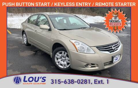 2010 Nissan Altima for sale at LOU'S CAR CARE CENTER in Baldwinsville NY