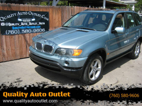 2002 BMW X5 for sale at Quality Auto Outlet in Vista CA