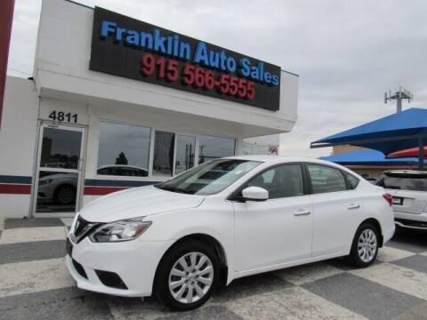 2016 Nissan Sentra for sale at Franklin Auto Sales in El Paso TX