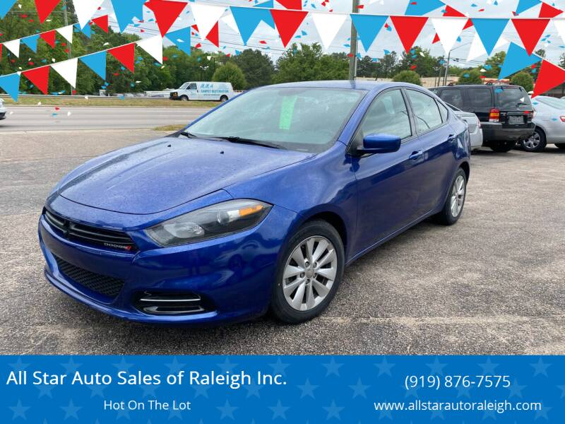 2014 Dodge Dart for sale at All Star Auto Sales of Raleigh Inc. in Raleigh NC