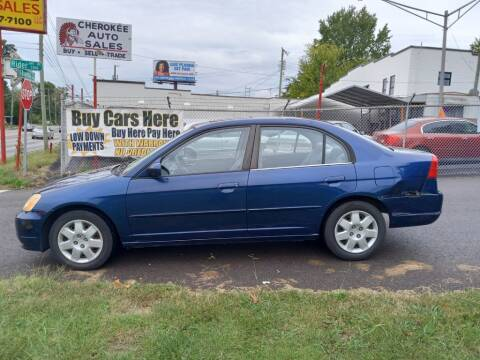 2002 Honda Civic for sale at Cherokee Auto Sales in Knoxville TN