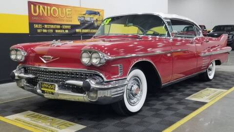 1958 Cadillac DeVille for sale at UNIQUE SPECIALTY & CLASSICS in Mankato MN