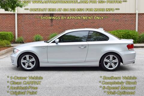 2008 BMW 1 Series for sale at Automotion Of Atlanta in Conyers GA