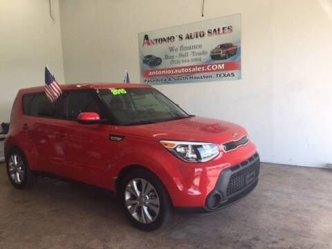 2015 Kia Soul for sale at Antonio's Auto Sales in South Houston TX