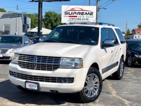 2010 Lincoln Navigator for sale at Supreme Auto Sales in Chesapeake VA