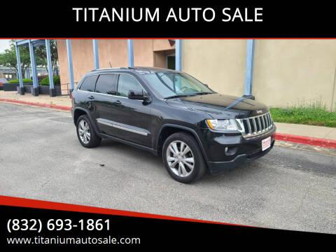 2012 Jeep Grand Cherokee for sale at TITANIUM AUTO SALE in Houston TX