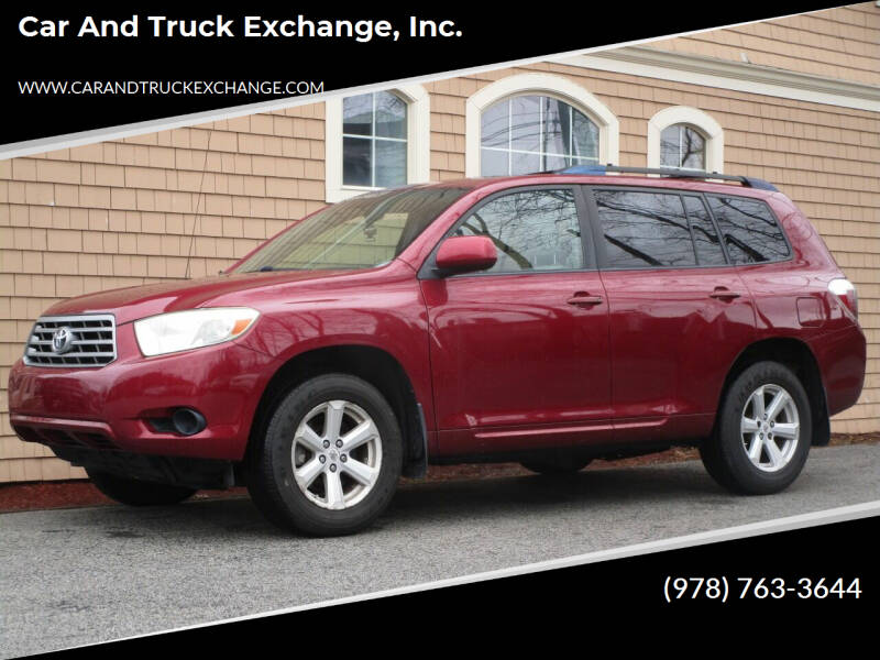 2008 Toyota Highlander for sale at Car and Truck Exchange, Inc. in Rowley MA