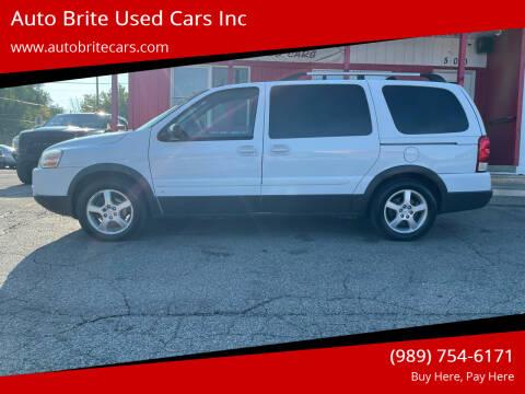 2008 Pontiac Montana SV6 for sale at Auto Brite Used Cars Inc in Saginaw MI