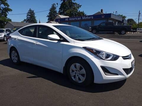 2016 Hyundai Elantra for sale at All American Motors in Tacoma WA