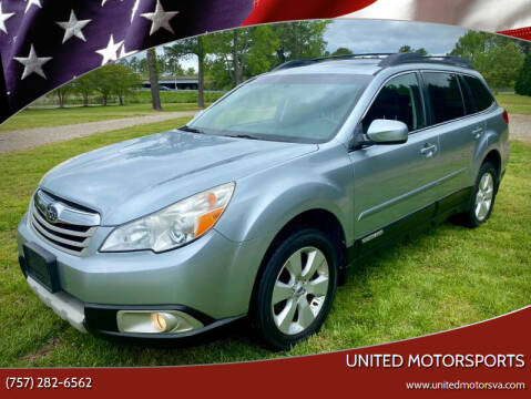 2012 Subaru Outback for sale at United Motorsports in Virginia Beach VA