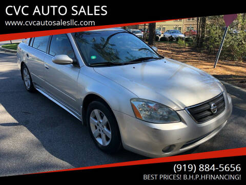 2003 Nissan Altima for sale at CVC AUTO SALES in Durham NC