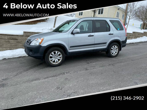 2005 Honda CR-V for sale at 4 Below Auto Sales in Willow Grove PA