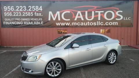 2012 Buick Verano for sale at MC Autos LLC in Pharr TX