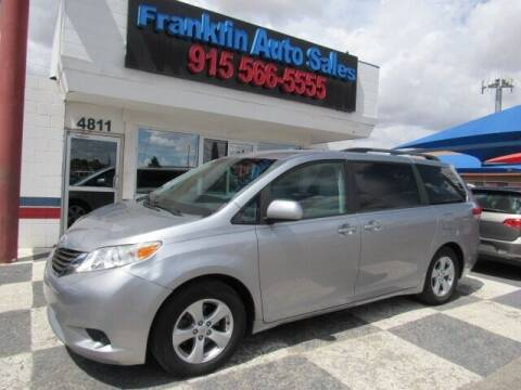 2013 Toyota Sienna for sale at Franklin Auto Sales in El Paso TX