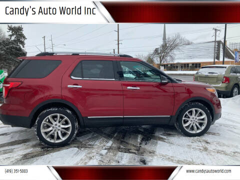 2013 Ford Explorer for sale at Candy's Auto World Inc in Toledo OH