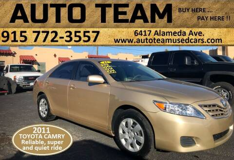 2011 Toyota Camry for sale at AUTO TEAM in El Paso TX