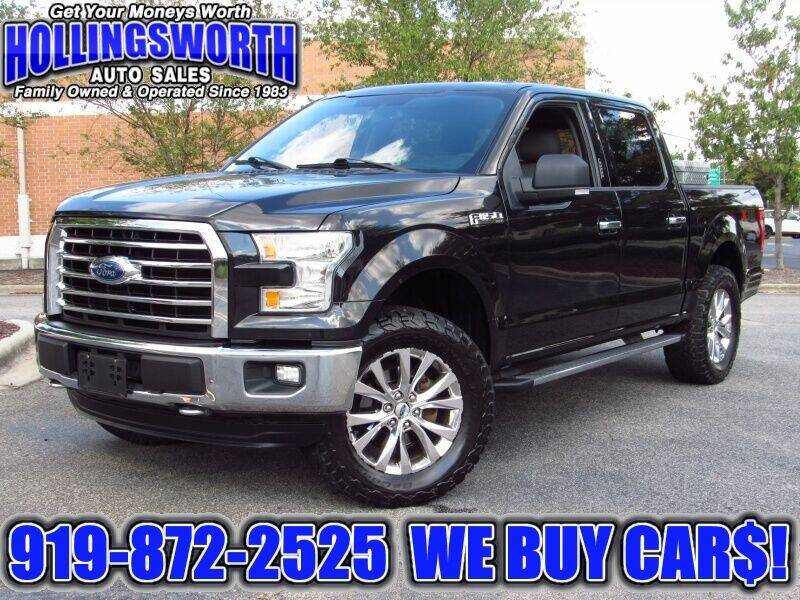 2015 Ford F-150 for sale at Hollingsworth Auto Sales in Raleigh NC