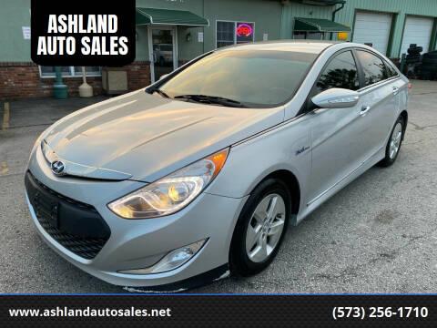 2012 Hyundai Sonata Hybrid for sale at ASHLAND AUTO SALES in Columbia MO