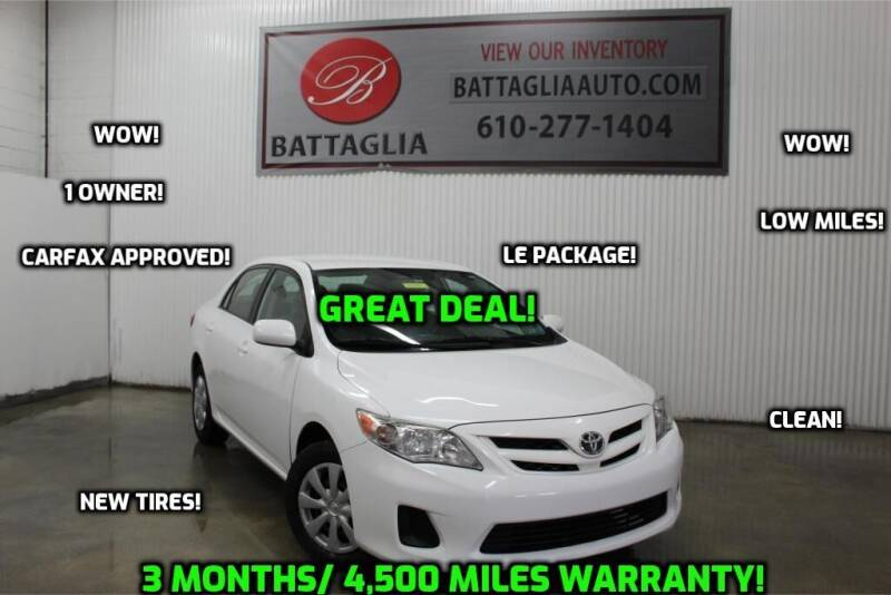 2011 Toyota Corolla for sale at Battaglia Auto Sales in Plymouth Meeting PA