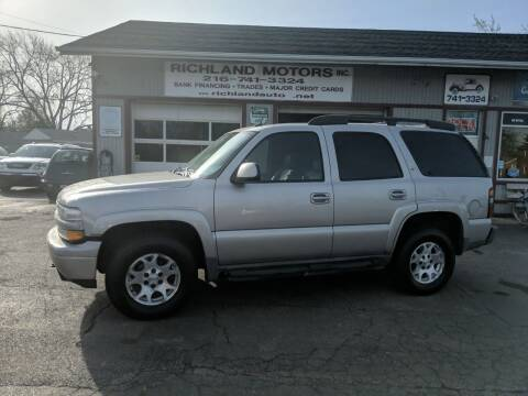 2005 Chevrolet Tahoe for sale at Richland Motors in Cleveland OH