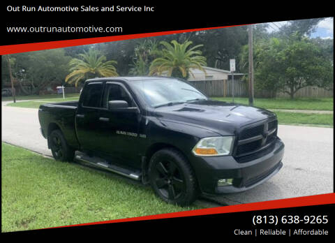 2012 RAM Ram Pickup 1500 for sale at Out Run Automotive Sales and Service Inc in Tampa FL
