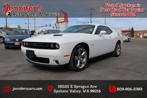 2016 Dodge Challenger for sale at Jennifer's Auto Sales in Spokane Valley WA