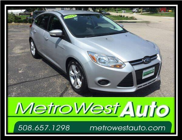 2014 Ford Focus for sale at Metro West Auto in Bellingham MA