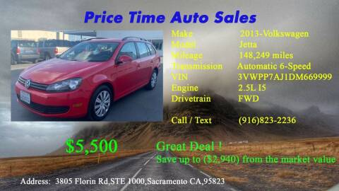 2013 Volkswagen Jetta for sale at PRICE TIME AUTO SALES in Sacramento CA